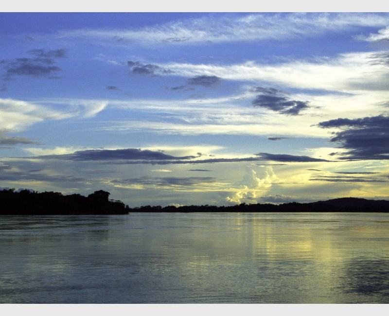 Sunset over the Orinoco, near Puerto Ayacucho - Venezuela, 1999