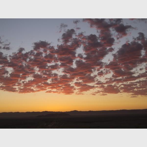 Namibian sunset - Namibia, 2012